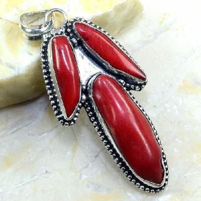 Crf 201a pendentif pendant corail rouge bijoux argent 925 achat vente