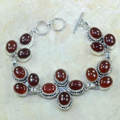 Crn 100a bracelet cornaline carnelian achat vente bijoux argent 925