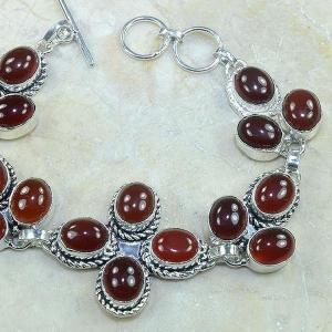 Crn 100b bracelet cornaline carnelian achat vente bijoux argent 925