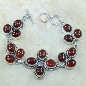 Crn 100d bracelet cornaline carnelian achat vente bijoux argent 925