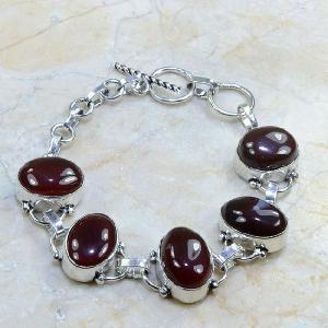 Crn 101a bracelet cornaline carnelian achat vente bijoux argent 925