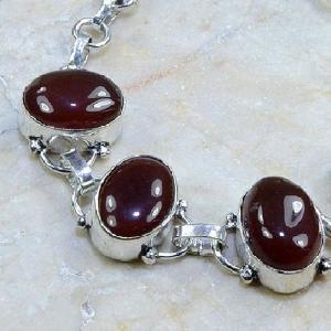 Crn 101b bracelet cornaline carnelian achat vente bijoux argent 925