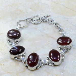 Crn 101d bracelet cornaline carnelian achat vente bijoux argent 925