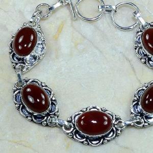 Crn 103b bracelet carnelian cornaline achat vente bijoux argent 925