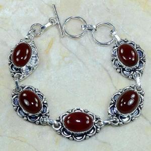 Crn 103d bracelet carnelian cornaline achat vente bijoux argent 925