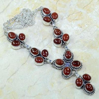 Crn 104a collier parure carnelian sautoir cornaline achat vente bijoux argent 925