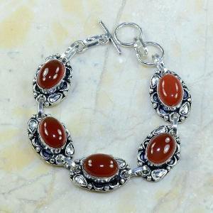 Crn 105a bracelet cornaline carnelian achat vente bijoux argent 925