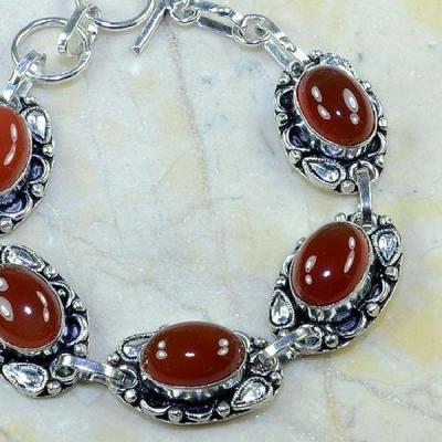 Crn 105b bracelet cornaline carnelian achat vente bijoux argent 925