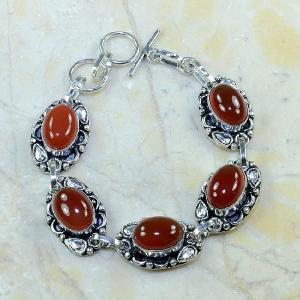 Crn 105d bracelet cornaline carnelian achat vente bijoux argent 925