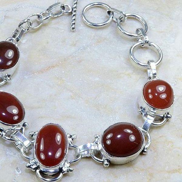 Crn 106b bracelet cornaline carnelian achat vente bijoux argent 925