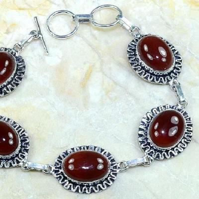 Crn 107b bracelet carnelian cornaline achat vente bijoux argent 925