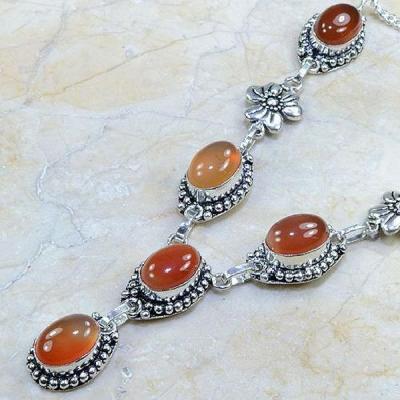 Crn 108b collier parure carnelian sautoir cornaline achat vente bijoux argent 925