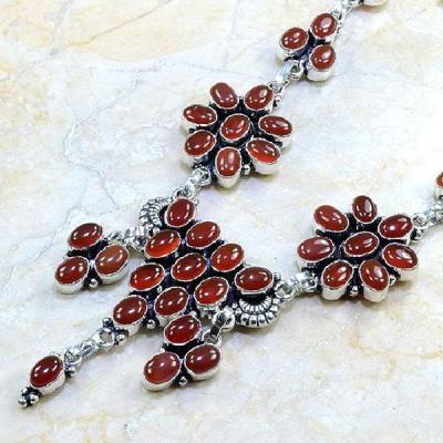 Crn 109b collier parure sautoir cornaline carnelian achat vente bijoux argent 925