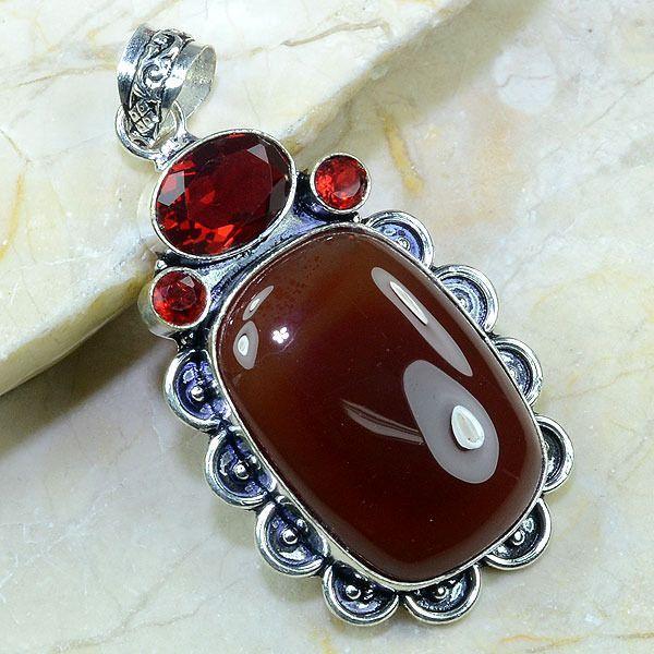 Crn 110a pendant pendentif cornaline medieval carnelian achat vente bijoux argent 925