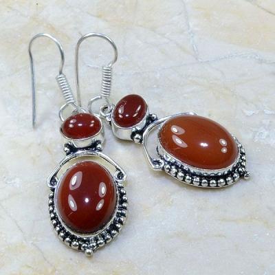Crn 111a boucles oreilles pendants cornaline carnelian achat vente bijoux argent 925