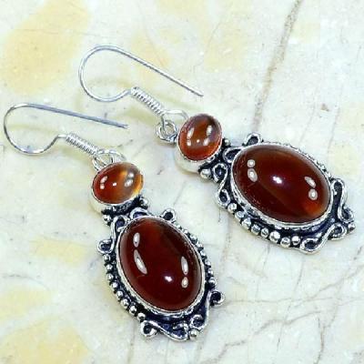 Crn 112a boucles oreilles pendants carnelian cornaline achat vente bijoux argent 925