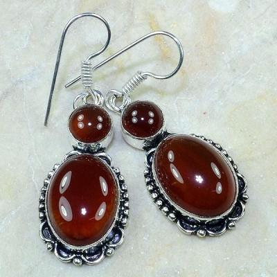 Crn 113a boucles oreilles pendants carnelian cornaline achat vente bijoux argent 925