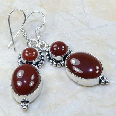 Crn 115a boucles oreilles pendants cornaline carnelian achat vente bijoux argent 925