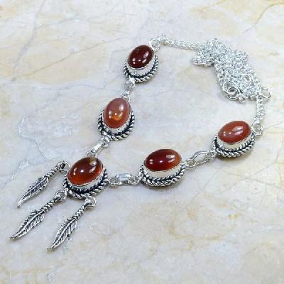 Crn 116a collier parure sautoir cornaline carnelian achat vente bijoux argent 925