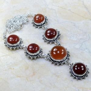 Crn 118a collier parure carnelian sautoir cornaline achat vente bijoux argent 925