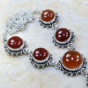 Crn 118c collier parure carnelian sautoir cornaline achat vente bijoux argent 925