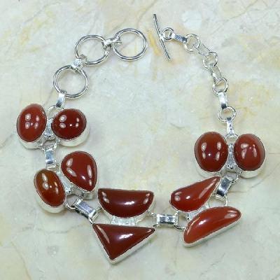 Crn 119a bracelet carnelian cornaline achat vente bijoux argent 925