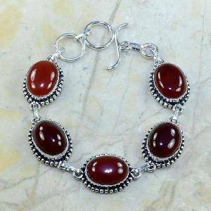 Crn 120a bracelet carnelian cornaline achat vente bijoux argent 925