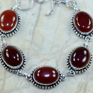 Crn 120c bracelet carnelian cornaline achat vente bijoux argent 925