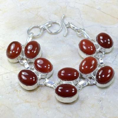 Crn 121a bracelet cornaline carnelian achat vente bijoux argent 925