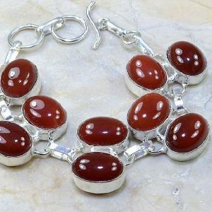 Crn 121c bracelet cornaline carnelian achat vente bijoux argent 925