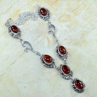Crn 122a collier parure carnelian sautoir cornaline achat vente bijoux argent 925