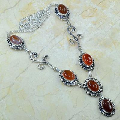 Crn 123a collier parure sautoir cornaline carnelian achat vente bijoux argent 925