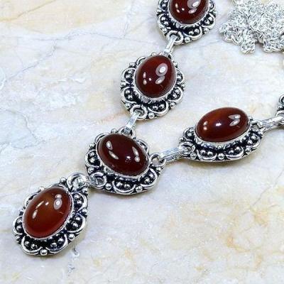 Crn 125b collier parure sautoir cornaline carnelian achat vente bijoux argent 925