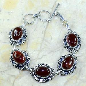 Crn 126a bracelet cornaline carnelian achat vente bijoux argent 925