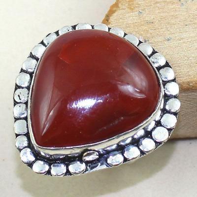 Crn 140a bague anneau t59 cornaline carnelian achat vente bijou pierre taillee lithitherapie