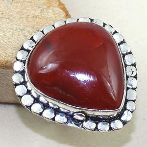 Crn 140b bague anneau t59 cornaline carnelian achat vente bijou pierre taillee lithitherapie