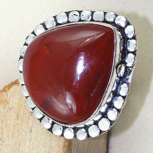 Crn 140c bague anneau t59 cornaline carnelian achat vente bijou pierre taillee lithitherapie