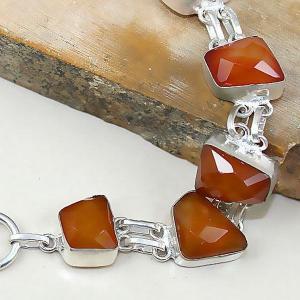 Crn 141b bracelet cornaline carnelian achat vente bijoux argent 925