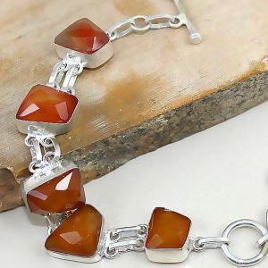 Crn 141c bracelet cornaline carnelian achat vente bijoux argent 925