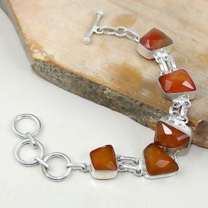Crn 141d bracelet cornaline carnelian achat vente bijoux argent 925