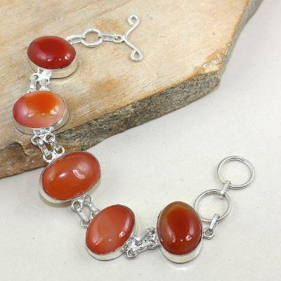 Crn 142a bracelet cornaline carnelian achat vente bijoux argent 925