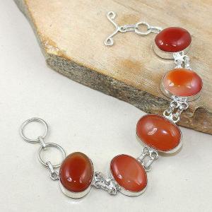 Crn 142d bracelet cornaline carnelian achat vente bijoux argent 925
