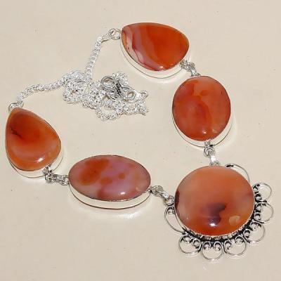 Crn 143a collier parure sautoir cornaline carnelian achat vente bijoux argent 926