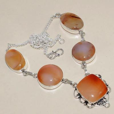 Crn 144a collier parure sautoir cornaline carnelian achat vente bijoux argent 925