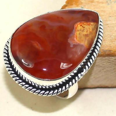 Crn 146a bague anneau t60 cornaline carnelian achat vente bijou pierre taillee lithitherapie