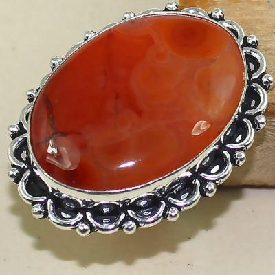 Crn 149a bague medievale t58 cornaline carnelian achat vente bijou pierre taillee lithitherapie