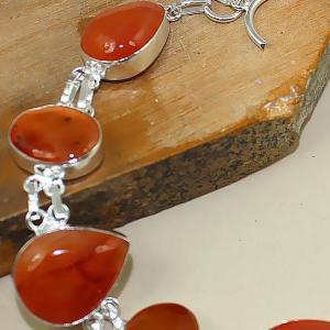 Crn 151c bracelet cornaline carnelian achat vente bijoux argent 925
