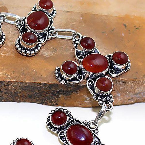 Crn 152b bracelet croix medieval cornaline carnelian achat vente bijoux argent 925
