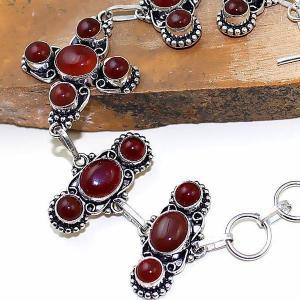 Crn 152c bracelet croix medieval cornaline carnelian achat vente bijoux argent 925