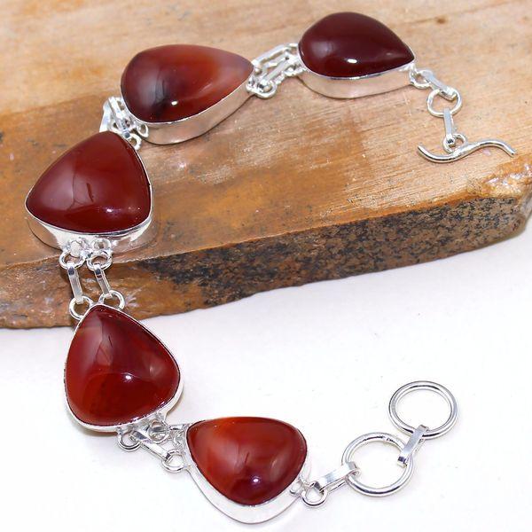 Crn 153a bracelet medieval cornaline carnelian achat vente bijoux argent 925